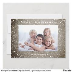 "Elegant gold glitter ""Merry Christmas"" photo greeting card #zazzlemade Holiday Photo Cards, Holiday Photos, Photo Greeting Cards, Merry Christmas Photos, Christmas Holidays, Christmas Stuff, Personalised Christmas Cards, Dog Design, Gold Glitter"