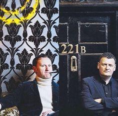 Mark Gatiss & Stephen Moffat #Sherlock