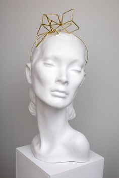gold geometric headband Gold Line 5befd3f89dc