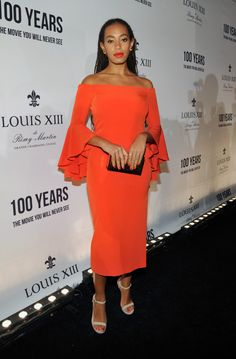 Solange Knowles Wears Head to Toe Red-Wmag