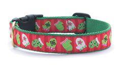 Christmas Mittens Dog Collar - MyDogCollars.com