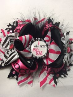 I only rock big bows stacked boutique bow $6.99
