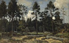 Théophile Emile Achille de Bock (1851-1904) On the Holterberg, oil on canvas 38.7 x 59.9 cm, signed lower left. Collection Simonis & Buunk, The Netherlands.