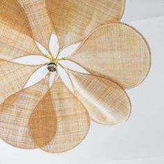 Raffia blade - Georges Blade Play, Vintage Ceiling Fans, Shine Your Light, Wooden Ceilings, Flower Lights, Lamp Design, Interior Lighting, Palm Springs, Girl Gifts
