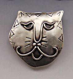 Cat Face Pin Cat Pin Cat Jewelry Kitty Face Pin Kitty