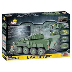 Help them build a piece of history with this COBI Small Army LAV III APC- Light Armored Vehicle Construction Blocks Building Kit. Diy Case, Armored Vehicles, Apc, Cleaning Wipes, Construction, Building, Models, Templates