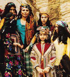Farah wearing traditonal custome in Luristan, 1970s