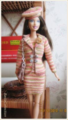 Dress for Barbie made by BasiaCollection.