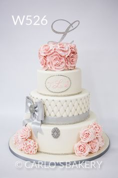 Carlo's Bakery - Floral Wedding Cake Designs. In the right colors though.