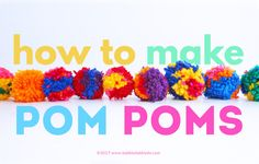 Art for Kids Archives - Babble Dabble Do for teens Creative Basics: How to Make Pom Poms Arts And Crafts For Teens, Easter Crafts For Kids, Craft Activities For Kids, Art For Kids, Teen Crafts, Craft Ideas, Science Activities, Top Toys For Girls, Babble Dabble Do