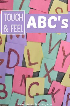 Touch and Feel ABC cards. Great alphabet practice and pre-writing activity!