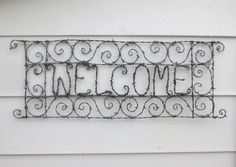 Spirillian Filigree Barbed Wire Welcome Sign Made by thedustyraven, $78.00