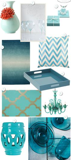 Turquoise Home | Adore the Modern Decor Trend with lots of Color | Fab Housewife