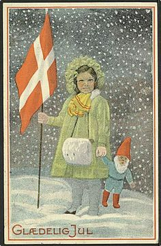 vintage Christmas postcards Brazil | Danish vintage Christmas card, published by Stenders Forlag. Depicting ...