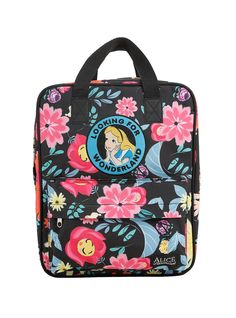e992e24aa20 Loungefly Disney Alice In Wonderland Floral Mini Briefcase Backpack.  HotTopic