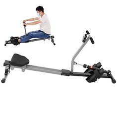 Bicaquu Adjustable Resistance 12 Level Scan Function Fitness Rower Metal Frame Seated Row Machine for Workout Arms Workout Shoulders You'll be able to select the scan serve... Home Rowing Machine, Rowing Machines, Workout Machines, Indoor Rowing, Remo, At Home Gym, At Home Workouts, Improve Yourself, Thighs
