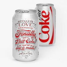 DIET COKE CELEBRATES ITS BIGGEST FANS WITH 'RETWEETS OF LOVE' — The Dieline - Branding & Packaging