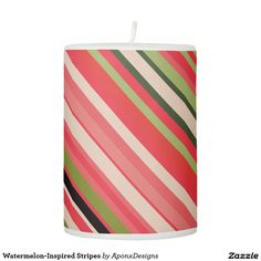 Watermelon-Inspired Stripes