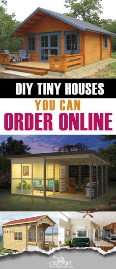 Everything from pre-built cabins and sheds to prefab tiny homes or detailed tiny house plans. Prefab Tiny House Kit, Cheap Tiny House Kits, Tiny House Builders, Cheap Houses, Tiny House Cabin, Tiny House Living, Tiny House On Wheels, Small House Plans, Cheap Tiny Homes