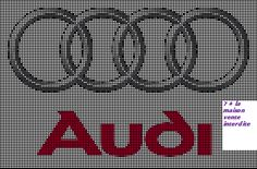logo audi, en grille gratuite - Le blog de 7 à la maison, point de croix, tricot, grilles gratuites... Audi, Pixel Art, Mini One, Melting Beads, Care Logo, C2c, Crossstitch, Le Point, Perler Beads