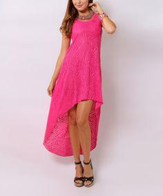 Look what I found on #zulily! Pink Hi-Low Maxi Dress - Women #zulilyfinds..http://www.zulily.com/invite/cgaebel557
