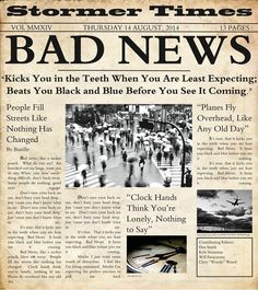 Bad News~ Bastille Can't get enough of this song :)