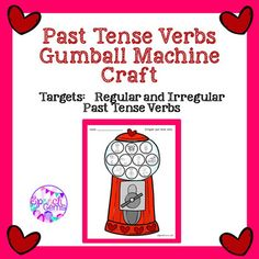 FREE Practice past tense verbs as you create a Valentines Day decoration.  This can also be used without the hearts throughout the school year..
