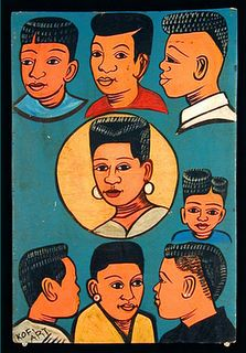 I remember seeing these types of murals for hair salons in Zanzibar. African Shop, African Art, African Fabric, Afro, African Hair Salon, Barber Sign, Illustrations, Illustration Art, Hair Today Gone Tomorrow