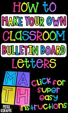 DIY bulletin board letters for your classroom in a super easy step by step guide.- DIY bulletin board letters for your classroom in a super easy step by step guide to make your own classroom decor in any font size or color you want! Save this! Bulletin Board Letters, Library Bulletin Boards, Back To School Bulletin Boards, Classroom Bulletin Boards, New Classroom, Classroom Design, Classroom Organization, Classroom Management, Classroom Ideas