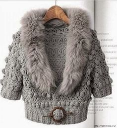 Crochet Cardigan Outfit Winter Gray New Ideas Cardigan Au Crochet, Crochet Winter, Knitted Coat, Crochet Jacket, Knit Jacket, Crochet Cardigan, Gray Jacket, Jacket Style, Pull Crochet