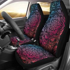 Not Applicable Car Seat Covers Peach Blossom Pink Protector Cushion Premium Cover for Women Men Girls Boys Fits Most Cars Truck SUV Van