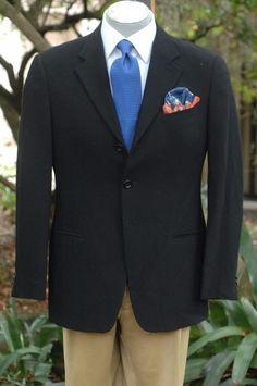 Armani Collezioni $1895 Black Twill All Season Wool Blazer Sport Coat 40S 40 S #ArmaniCollezioni #ThreeButton