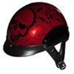 DOT RED BONYARD MOTORCYCLE HALF/BEANIE HELMET-100BYR-XL. Product Description The Boneyard has been one of our best selling helmets at the rallies and shows. This is a Red/Burg Boneyard Series Shorty DOT Motorcycle Helmet which is the lightest and smallest in the market. Three different shell sizes are used to make different sizes. There are similar looking helmets available which are heavier and bulkier. This one weighs approximately 30 oz and measures 8.5 inches from ear to ear and 10.5...