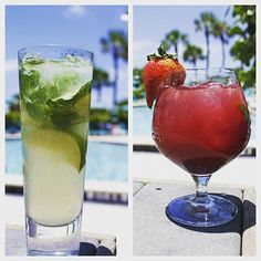 Mojito or Sangria? Which one? #ThirstyThursday #PoolSideDrinks #FunInTheSun #ResortLife #LongboatKeyClub