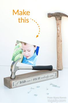 DIY Father's Day photo gift idea!