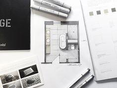 bathroom design Copic Art, Bath Design, Floor Plans, Interior Design, Bathroom, Arch, Ceramics, Instagram, Architecture