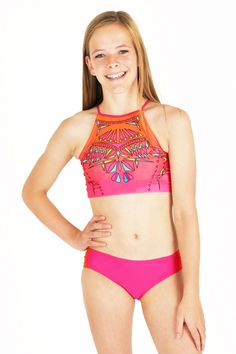 Limeapple girls swimwear | Preteen Girls Swimsuits fun and colorful  with UPF 50 sun protection