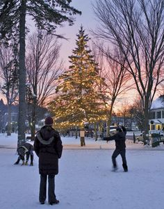 Vermont's beautiful winter landscapes provide a great backdrop for outdoor family fun ranging from exhilarating skiing on nearby trails to good-natured snowball fights