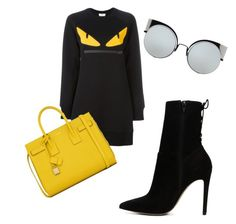 """""""Untitled #68"""" by pamp-royal on Polyvore featuring Fendi, ALDO and Yves Saint Laurent"""