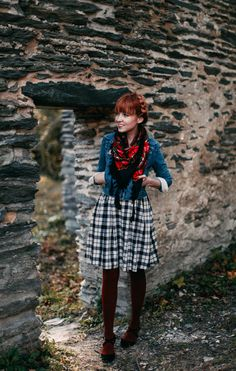 Rebecca from The Clothes Horse blog is wearing our Kitty Dress in Black/Ivory. We love how she paired it with red accessories! - Betina Lou Fall-Winter 2014-15 Collection