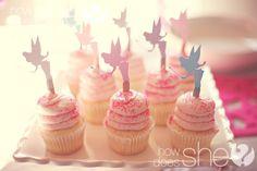 fairy birthday party cupcakes