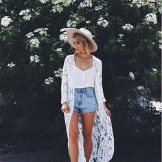 Madeline Sugar-Coated Ivory Lace Kimono Top I. Madeline Sugar-Coated Ivory Lace Kimono Top You'll look sweet enough to eat in the I. Mode Outfits, Casual Outfits, Fashion Outfits, Fashion Trends, Man Fashion, Spring Summer Fashion, Spring Outfits, Summer Outfit, Winter Outfits