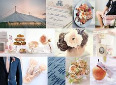 Exquisite Blooms: Navy & Peach Wedding Inspiration