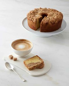 Layers of streusel and frangipane, an almond-based pastry filling, top this rich coffee cake. Martha made this recipe on Martha Bakes episode 605.