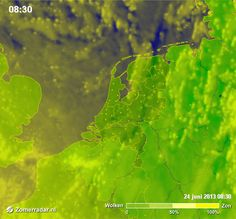 Waar de zon is....het laatste zomerse beeld op Zomerradar.nl