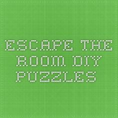 My friend & I want to have escape room nights once in a while. One of us will modify a room in his house with puzzles and riddles and all the others will try to escape. What are puzzle ideas for real escape rooms? Real Escape Room, Escape Room Diy, Escape Box, Escape Games, Youth Games, Youth Activities, Science Games, Escape Room Challenge, Breakout Edu