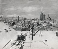 Philip Evergood (American, 1901–1973). Kalamazoo in Winter, 1941–42. The Metropolitan Museum of Art, New York. Arthur Hoppock Hearn Fund, 1942 (42.165) #snow