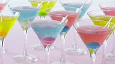 Candy-inspired cocktails for a crowd, featuring bubble-gum flavored vodka and sour fruit liqueur.