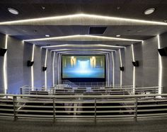 Movie theater VIP class, in a unique style by Sergey Makhno. Luxury Movie Theater, Cinema Movie Theater, Soul Spa, Auditorium Design, Architecture Building Design, Private Viewing, Curved Walls, Grey Houses, Theatre Design