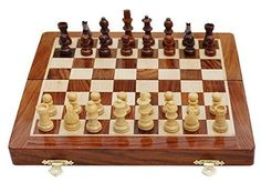"""7"""" HANDMADE TOP QUALITY MAGNETIC WOODEN CHESS SET- GIFT IDEA - FREE SHIPPING #UnKleCraFT"""
